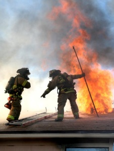 Another Firefighter Roof Operations Hands On Training On