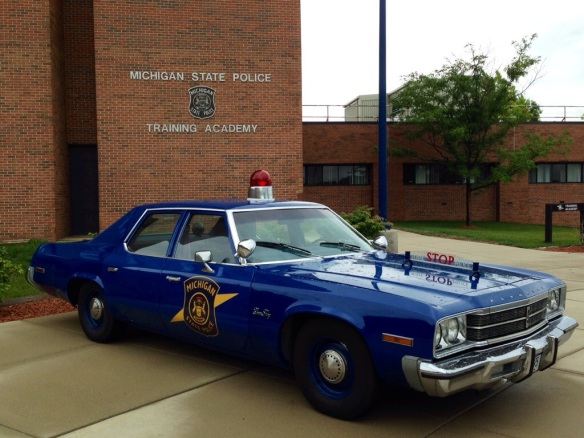 Teaching today at the Michigan State Police training